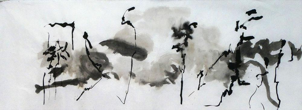Serie-Boswandeling-2.-Inkt-op-rijstpapier.-60-x-170-cm.-2020